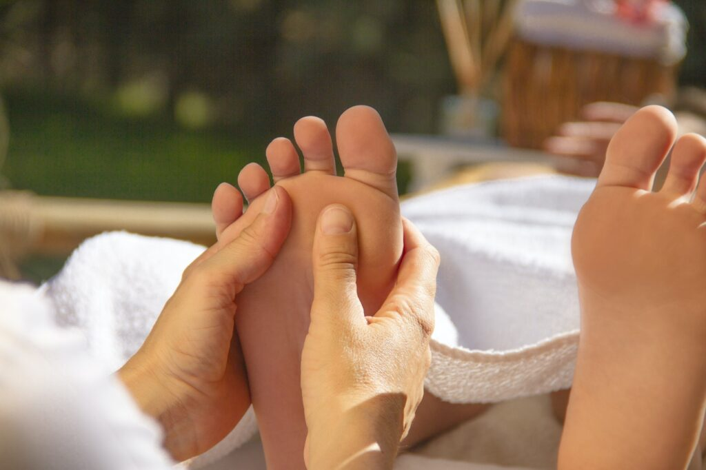 Hands doing Reflexology